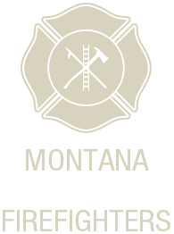 Montana Volunteer Firefighters Retina Logo